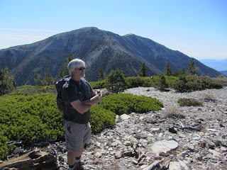 View south toward Mt. Baldy from Dawson Peak