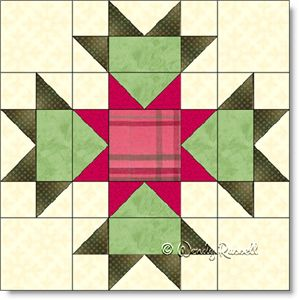 Connemara quilt block image © Wendy Russell