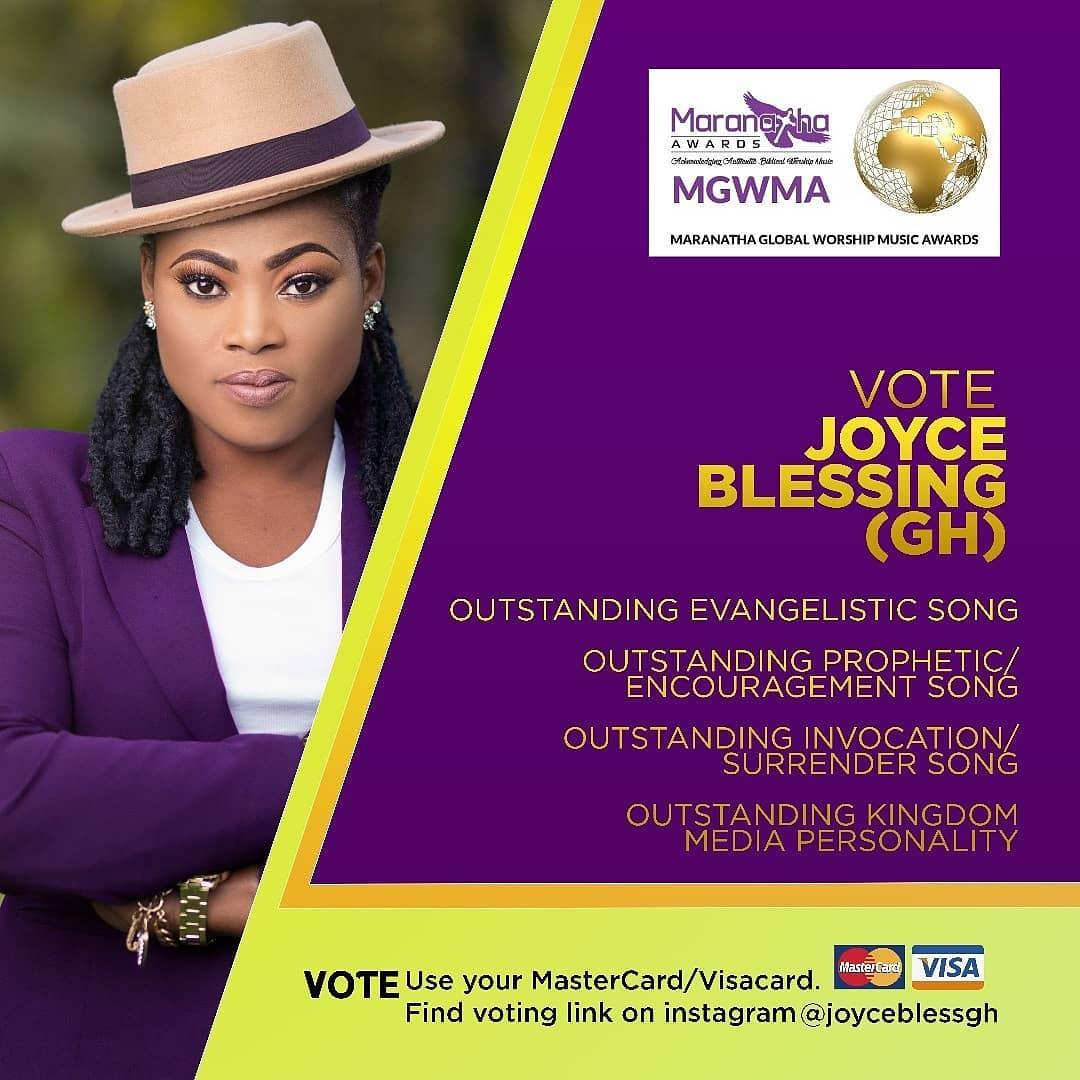 Joyce Blessing Gets Nominated For The Kenyan 2019 Maranatha