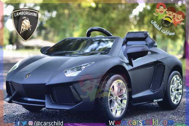سيارة اطفال من نوع لامبرغيني سوداء