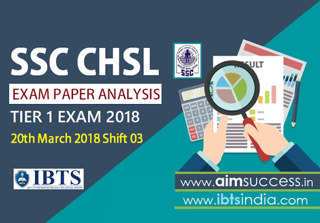 SSC CHSL Tier-I Exam Analysis 20th March 2018: Shift -3