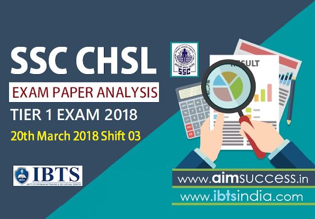 SSC CHSL Tier-I Exam Analysis 20th March 2018: Shift -3