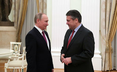 Vladimir Putin, Sigmar Gabriel.