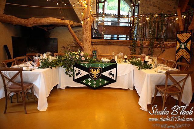 Decoration mariage medieval