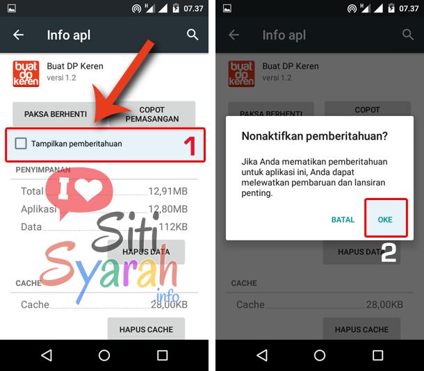 menghentikan notifikasi game di Android