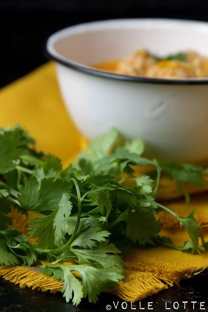 kochen, Suppe, Herbst, lecker, einfach, Koriander,