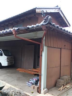 雨水浸透枡工事の施工前の写真