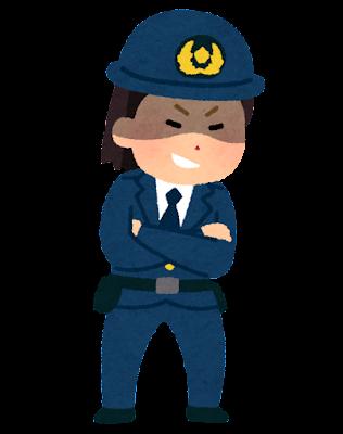 悪い警察官のイラスト(女性)