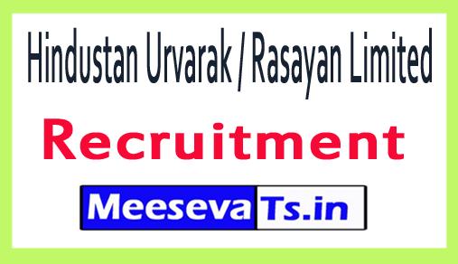 Hindustan Urvarak / Rasayan Limited HURL Recruitment