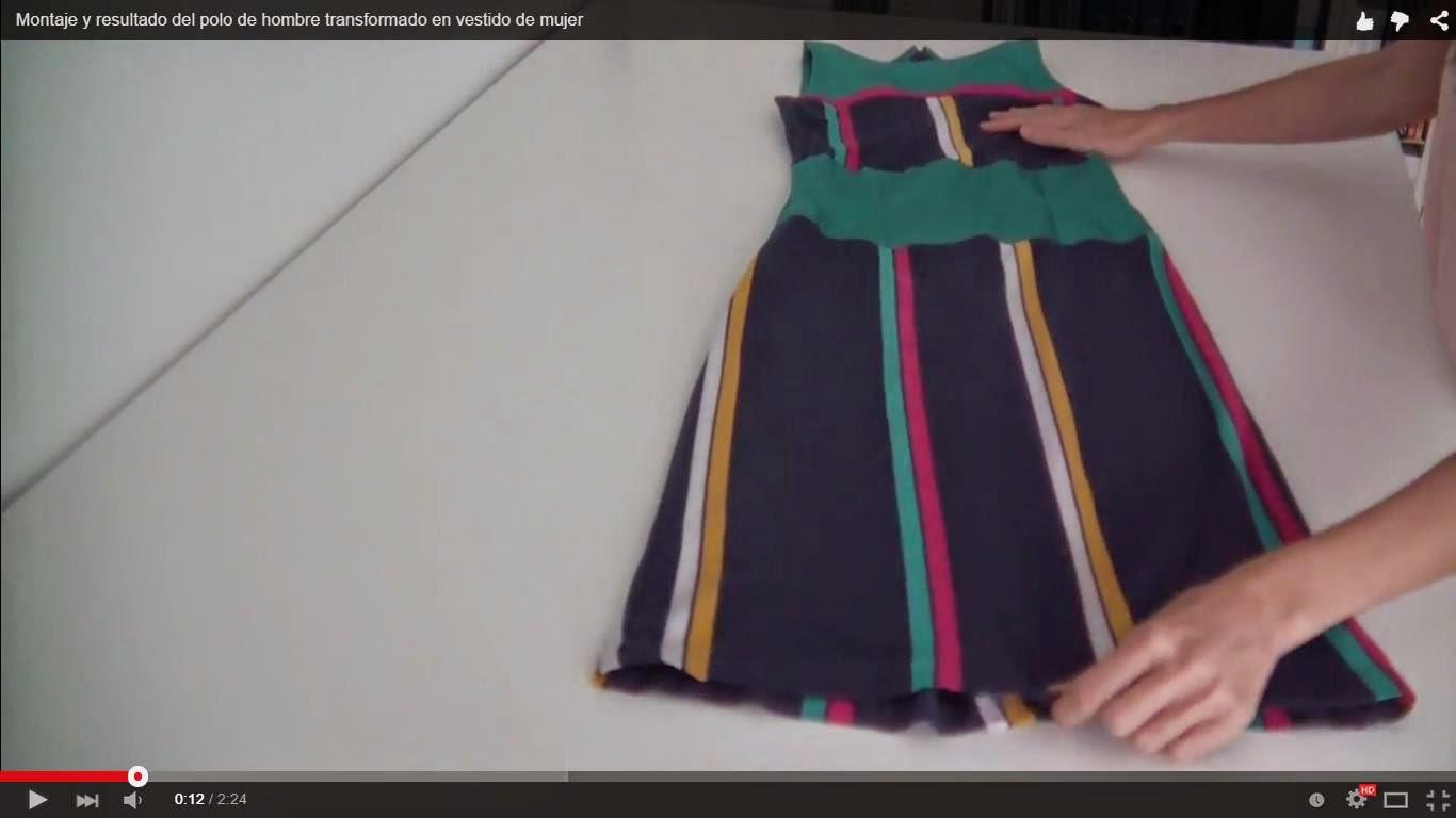 7d1c44b759 Hace unos meses os propuse una transformación arriesgada  convertir un polo  de hombre en un vestido de mujer