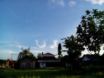 langit berlukiskan asma allah