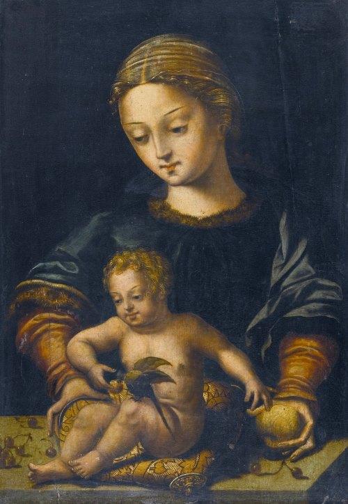 Антверпенская школа, XVI век - Мадонна с Младенцем