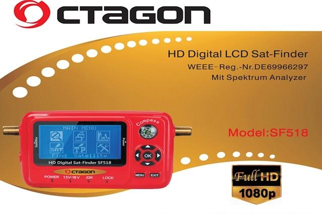 OCTAGON SAT FINDER SF518 LCD HD & 4K UHD ATUALIZAÇÃO V112 - 16/11/2016