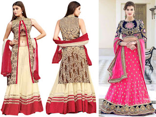 Lehenga is a form of long skirt, decorated with crafty embroidery and pleated. It is worn as the bottom portion Illustration of different regional variations worn by women in India. It is ethnic Indian women attire also known as a Lengha, Lehnga, Ghagra, Langa etc