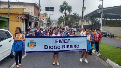 """ESCOLA MUNICIPAL """"EMEF DIOGO RIBEIRO"""" FAZ PASSEATA NO DIA MUNDIAL DA ÁGUA"""