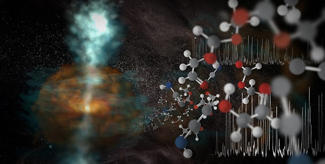astronomers observe cosmic steam jets and molecules galore