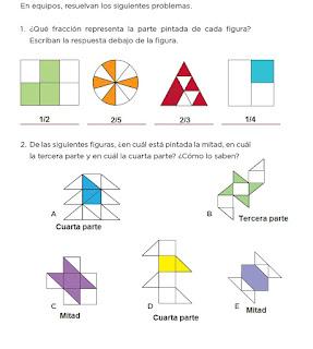 Respuestas Apoyo Primaria Desafíos Matemáticos 4to. Grado Bloque II Lección 28 ¿Qué fracción es?