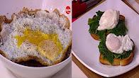 برنامج طبخة و نص 3-6-2017 طريقة عمل عدس مدمس بالبيض العيون - بيض بوشيه علي اوراق السبانخ والتوست مع عماد الخشت