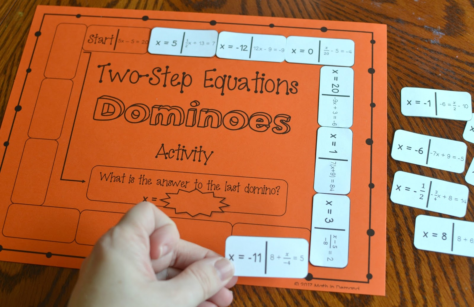 Two Step Equations Dominoes Activity