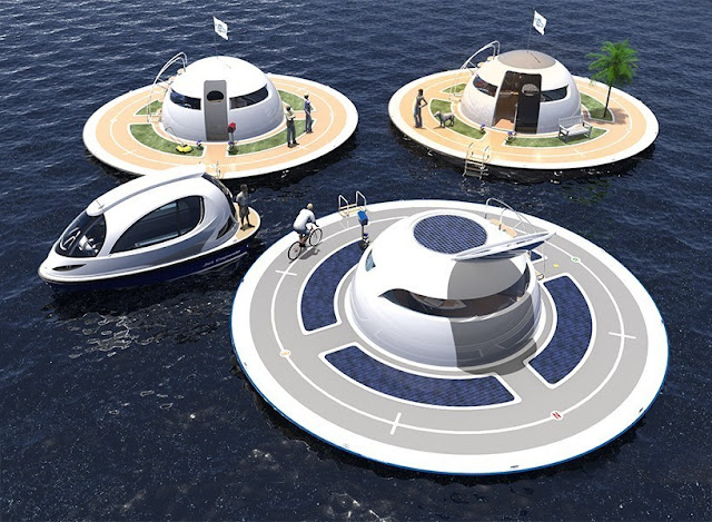 The UFO-like Floating House Concept It Allows You To Stay On The Sea