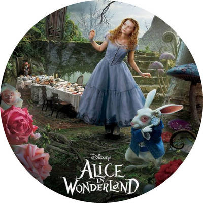Alice in Wonderland  Toppers or Free Printable Candy Bar Labels.