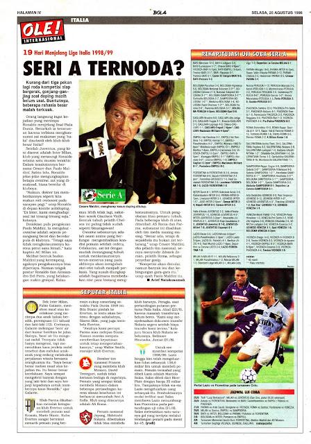 CESARE MALDINI LEGA CALCIO SERIE A 1998/99