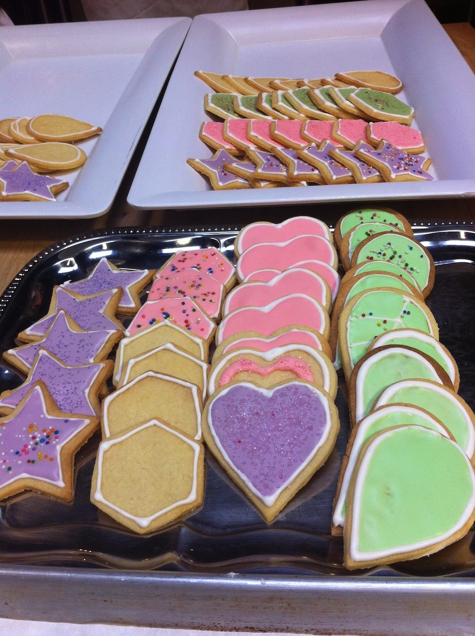 Cookies on a table.