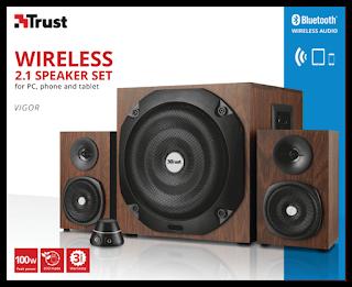 Casse acustiche 100 Watt Trust Vigor Set Altoparlanti 2.1 con Bluetooth