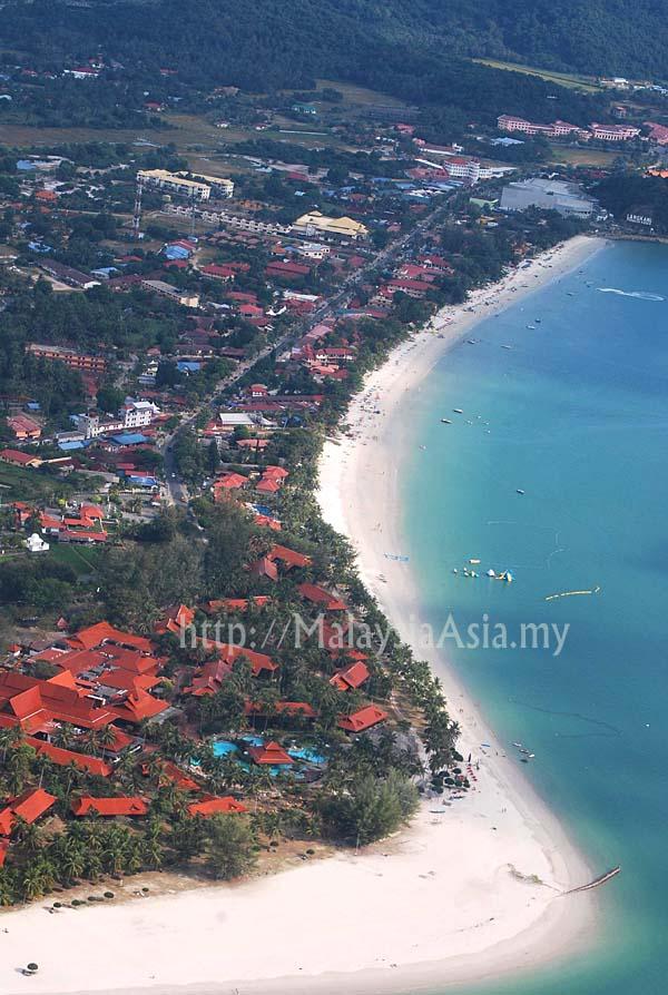 Aerial Plane View Pantai Cenang Langkawi