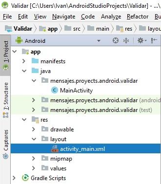 validar campos de texto en Android Studio