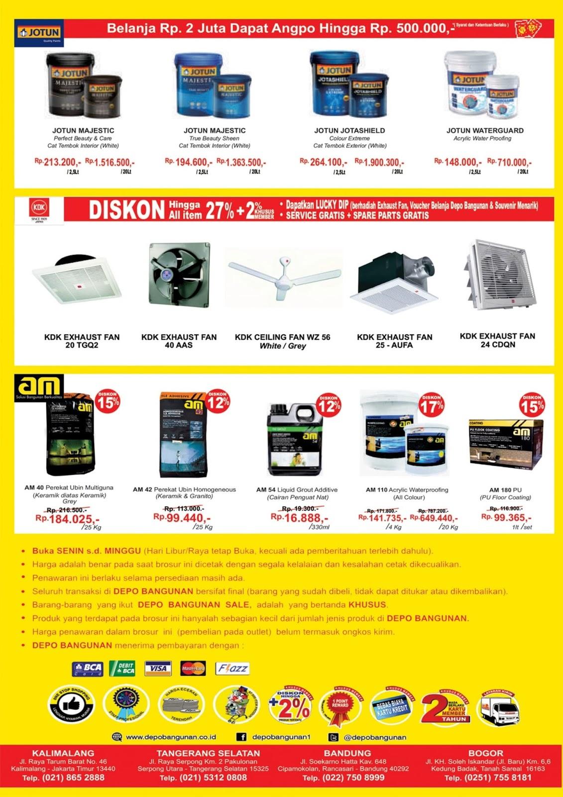Depo Bangunan - Katalog Promo 19 - 28 Januari 2018