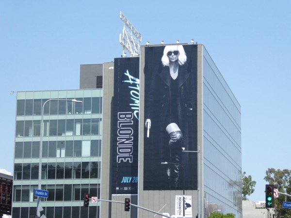 Giant Atomic Blonde movie billboard