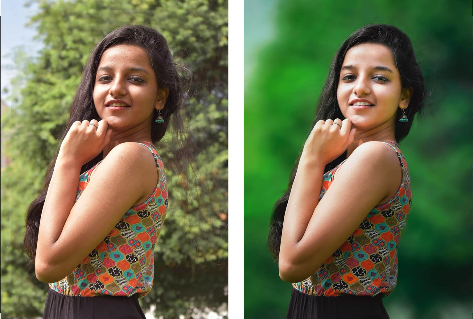 How to blur background photoshop outdoor portrait and retouching background blur baditri Images