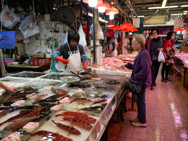 Fish for sale at the Fa Yuen Street Market