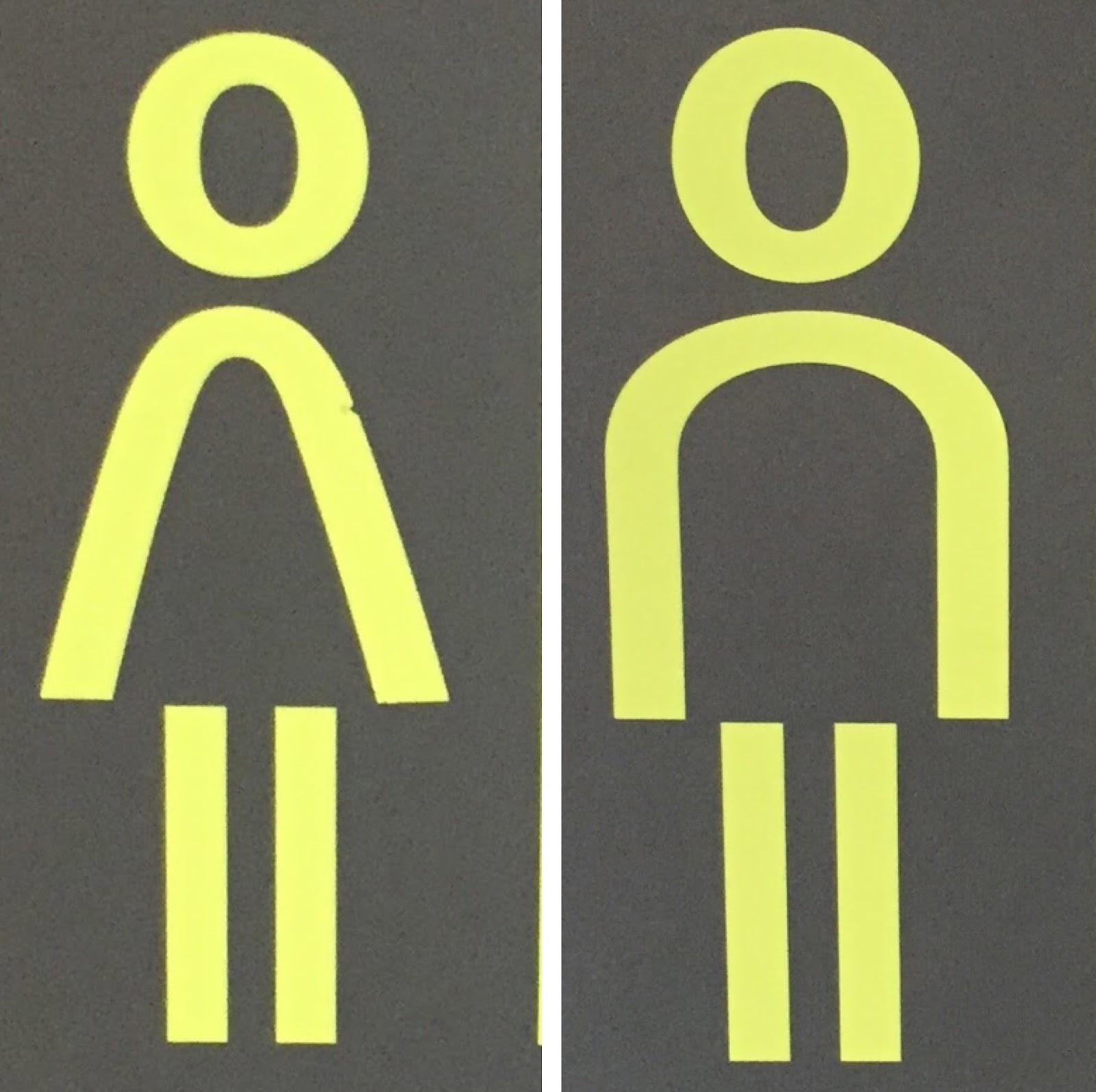 L'art difficile des pictogrammes de toilettes