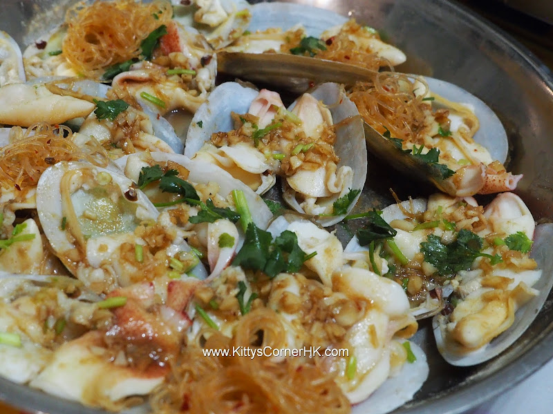 Steamed Baby Geoduck Clams with Garlic 生熟蒜蒸象拔蚌 自家食譜 home cooking recipes