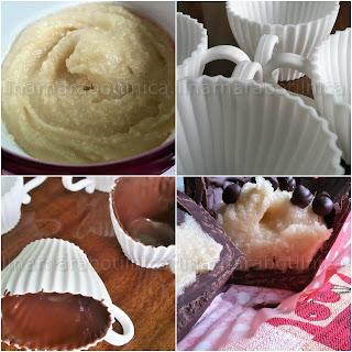 Рецепта за шоколадови кошнички-пралини с бадемова паста