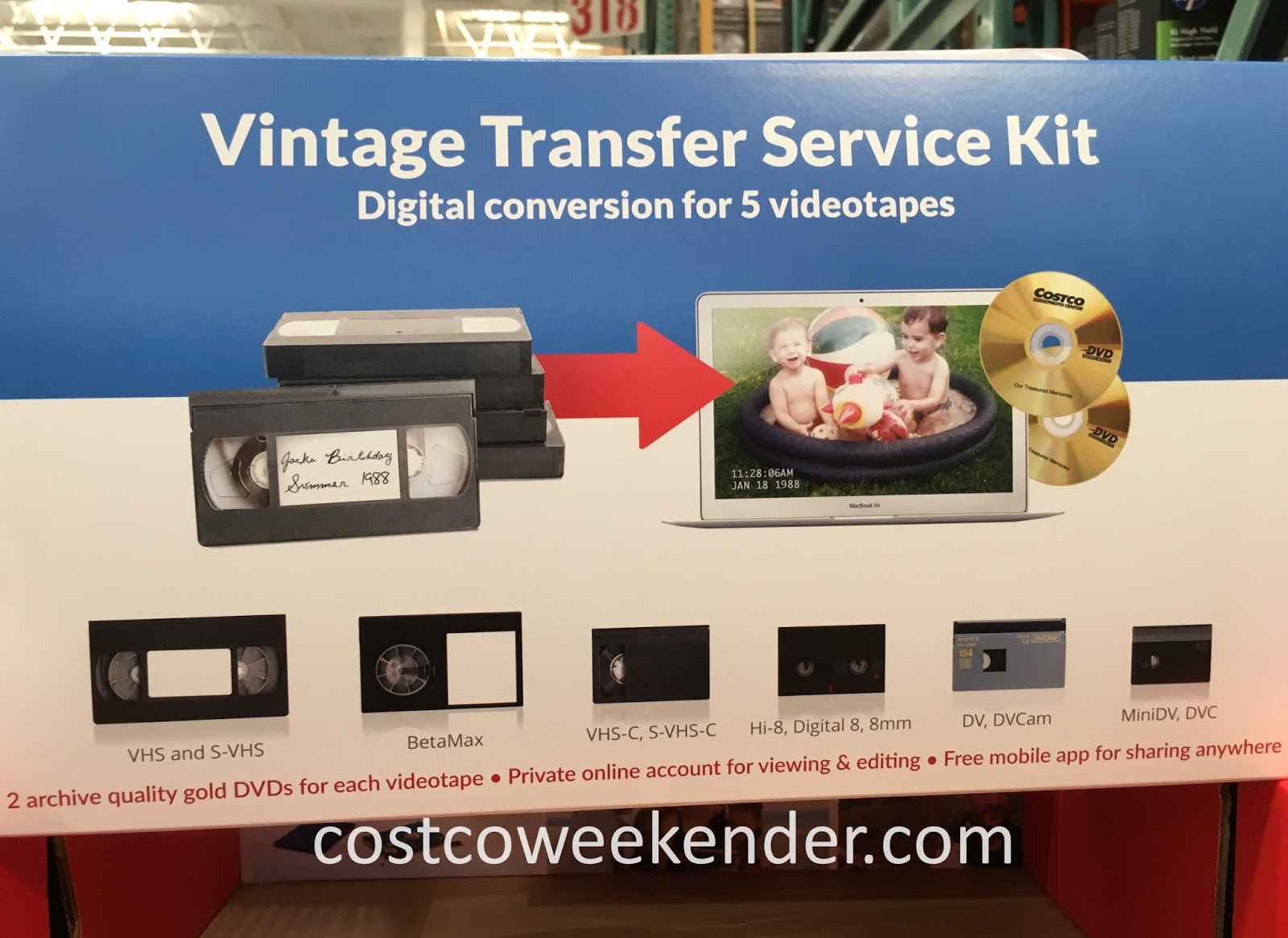 Digitize your home movies with the Vintage Transfer Service Kit Digital Conversion