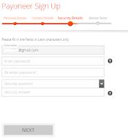Sign up payoneer MasterCard