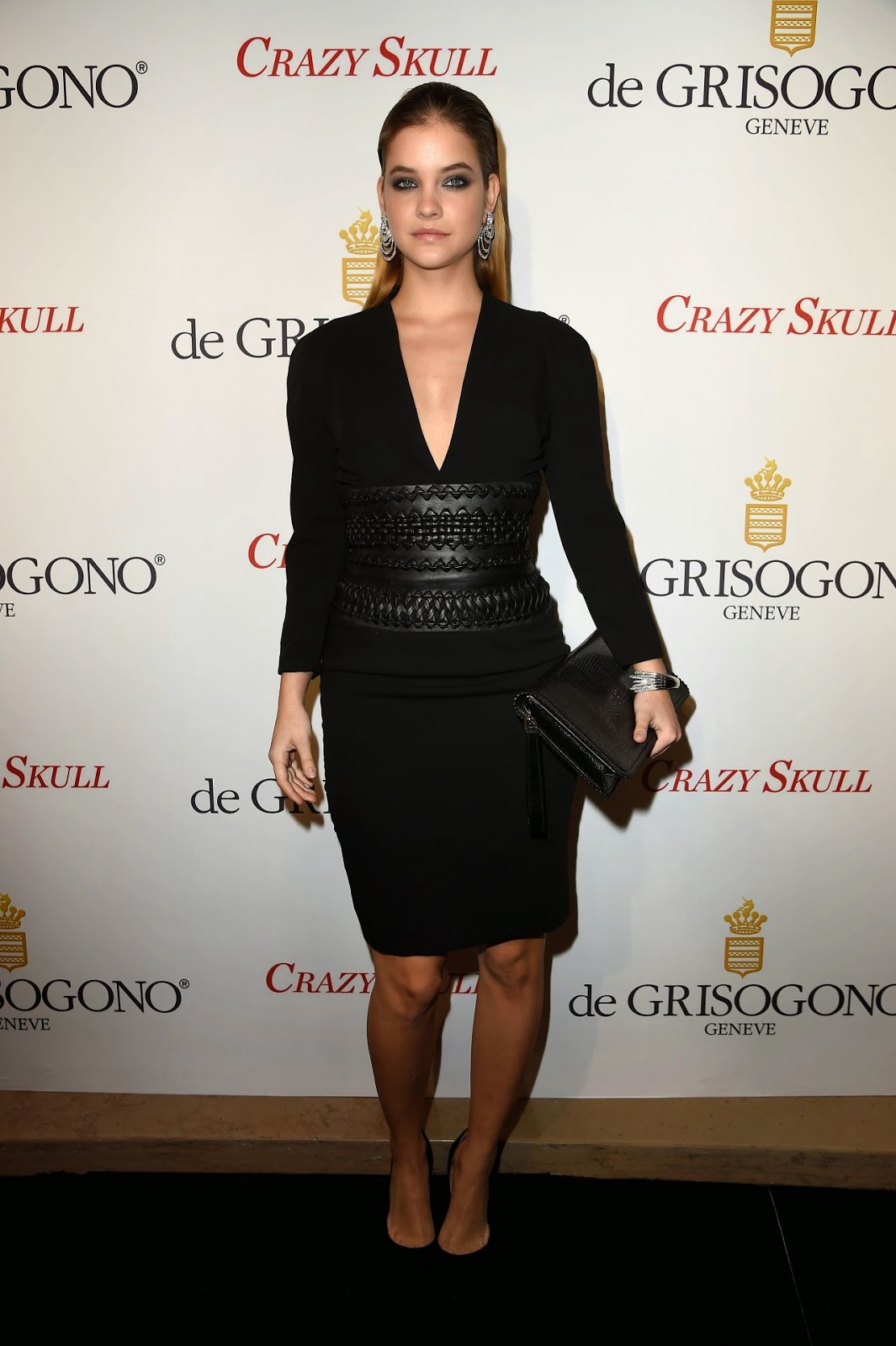 Barbara Palvin attends the De Grisogono 'Crazy Skull' Watch Paris launch
