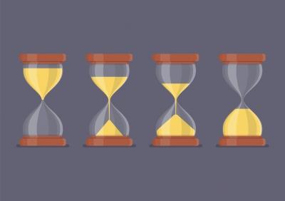 Quatro-ampulhetas-significando-a-passagem-do-tempo