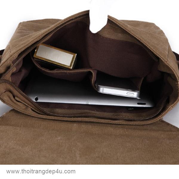 Túi đeo chéo nam vải bố cá tính VF012