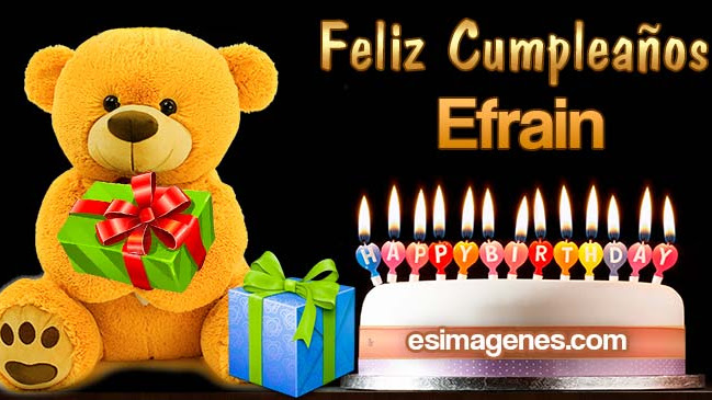 Feliz cumpleaños Efrain