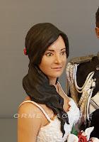 statuine per torte matrimonio sposa realistica da foto cake topper lusso orme magiche