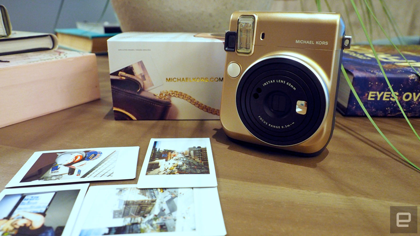 Fujifim and Michael Kors collaborate and release the Instax Mini 70 Instant camera in Gold