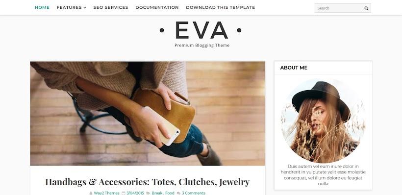 Eva Free Blogger Template