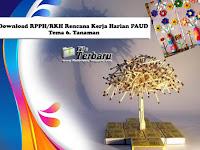Download RPPH/RKH Rencana Kerja Harian PAUD Tema 6 Tanaman