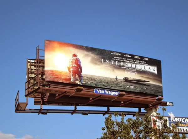 Interstellar water planet movie billboard