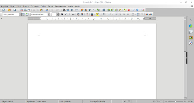 LibreOffice Writer no Deepin