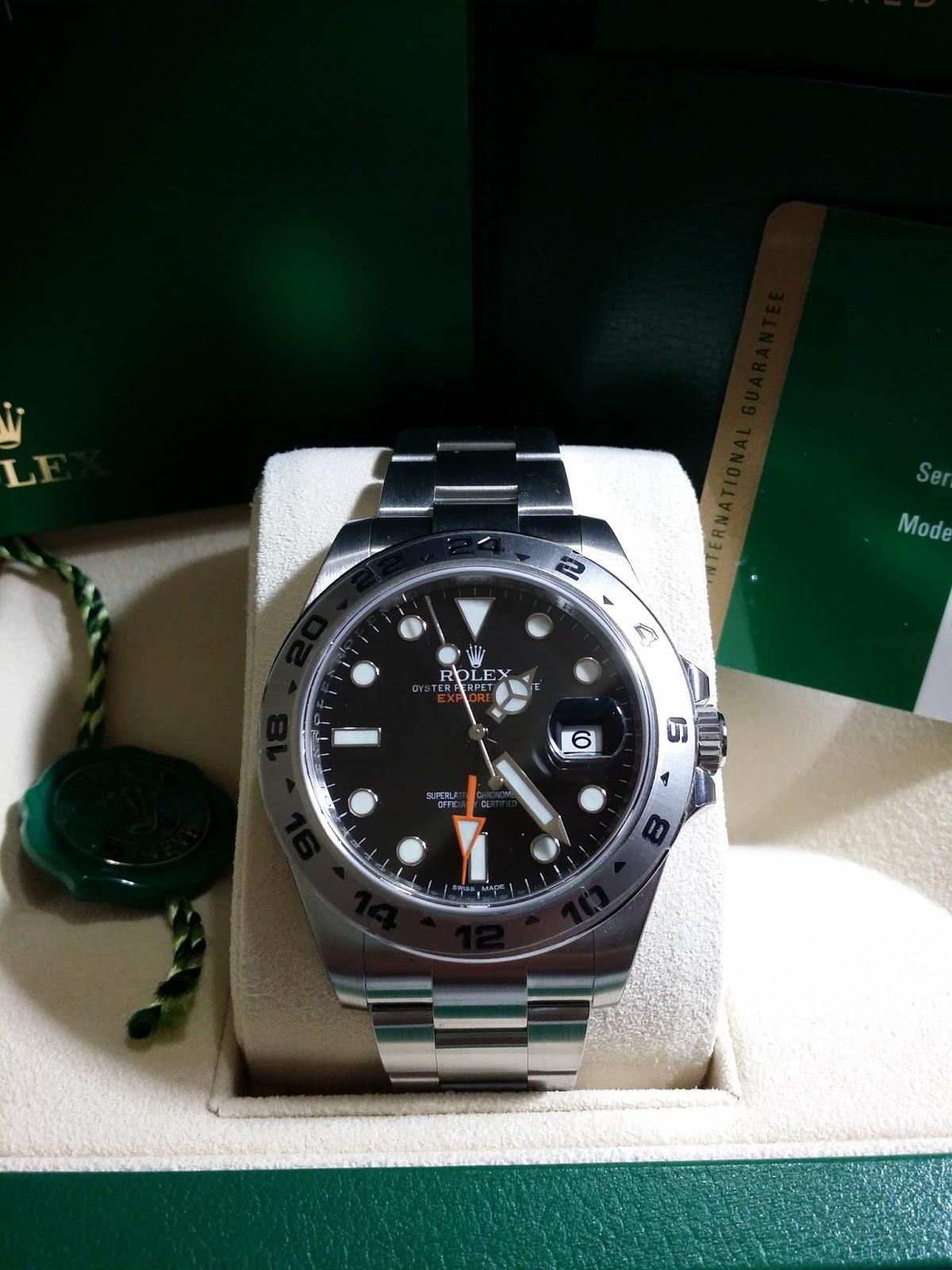 2d3f8ab139d Hong Kong Watch Fever 香港勞友  Rolex Explorer II Ref 216570 BNIB